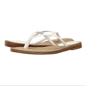 MIA White Larae Thing Braided Sandal 10